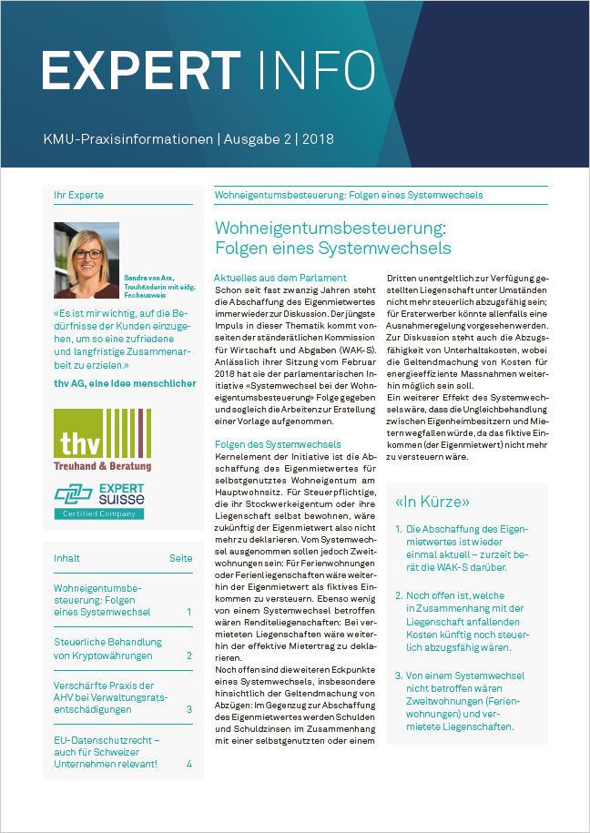Kundenmagazin thv AG - Ausgabe 02/18
