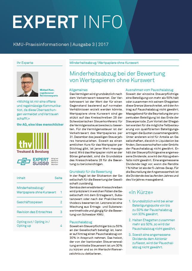 Kundenmagazin thv AG - Ausgabe 03/17