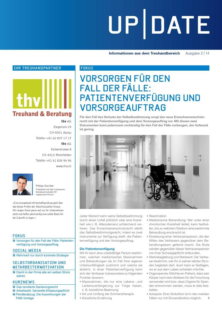 Kundenmagazin thv AG - Ausgabe 02/14